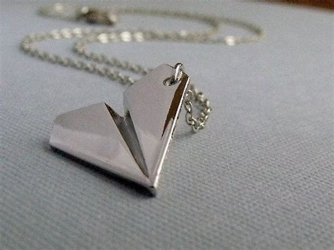 harry styles paper airplane necklace origami airplane