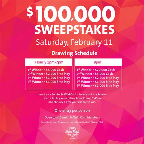 One Day Sweepstakes - everything you need to know about our february sweepstakes seminole hard rock ta blog