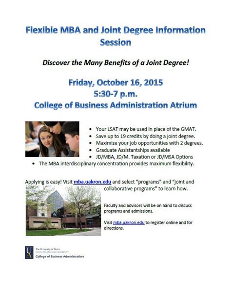 Mba Joint Degree Columbia by Jd Mba Joint Degree Akron Announcements
