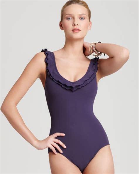 Shelf Bra Swimsuit curran swimsuit ruffle 1 one shelf bra in