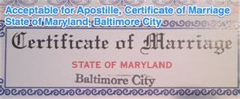 State Of Maryland Marriage Records 17 Best Images About State Of Maryland Sle Apostille On