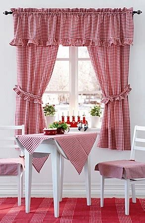 red checked curtains kitchen curtains cortinas pinterest belle make