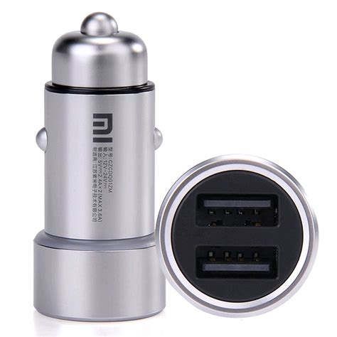 Xiaomi Mi Car Charger Dual Usb Silver Original Cas Mobil 5v 36a xiaomi mi car charger dual usb port with led light silver prices features expansys new zealand