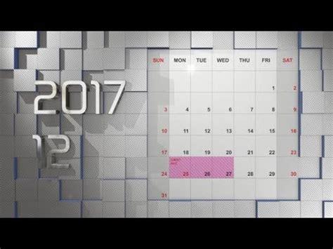 Calendar Maker Element 3d After Effects Template Youtube Maker Fx Templates