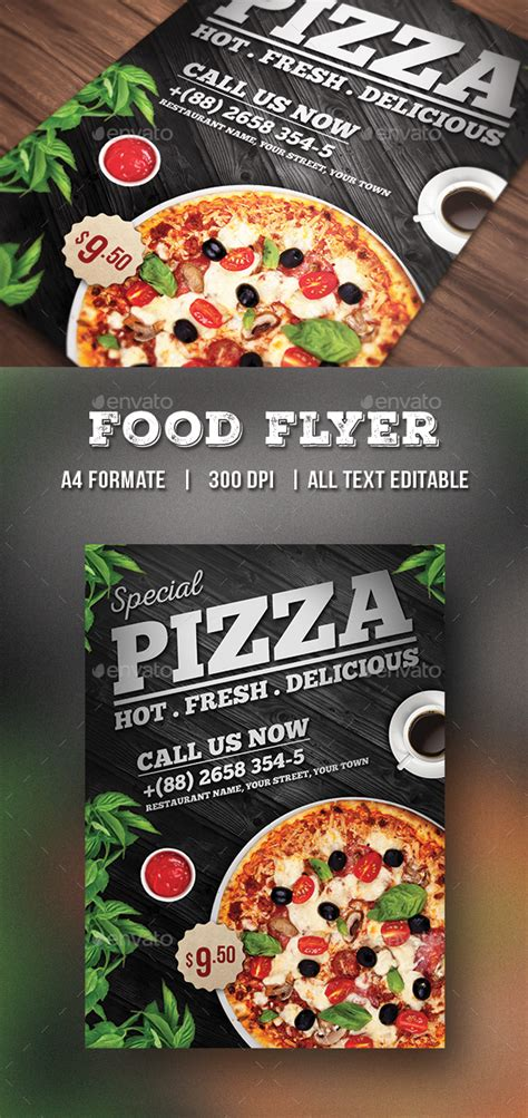 Pizza Flyer Food Flyer By Themedevisers Graphicriver Pizza Flyer Template