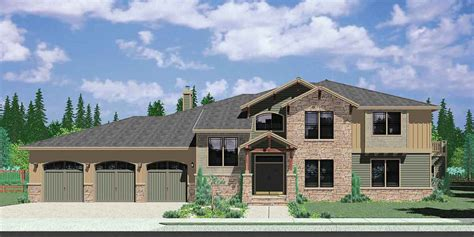 big 4 bedroom house house plans with mother in law suite or second master bedroom