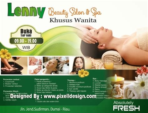 desain brosur salon contoh banner iklan spa dengan desain cantik dan menarik