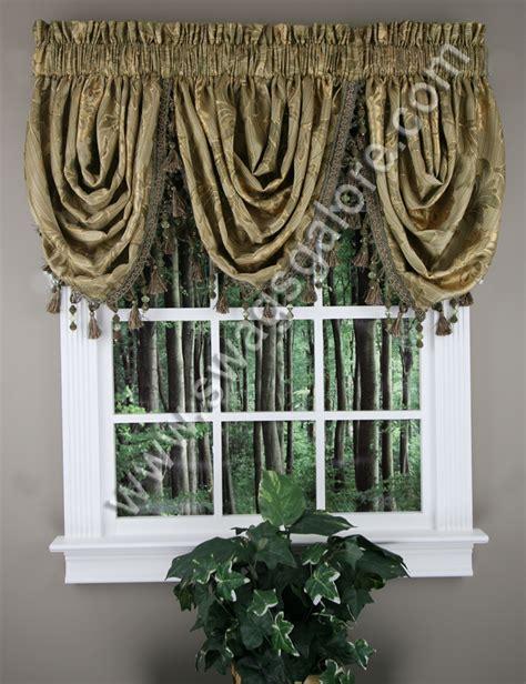 luxury home textiles curtains reagan waterfall jacquard valance sage luxury home