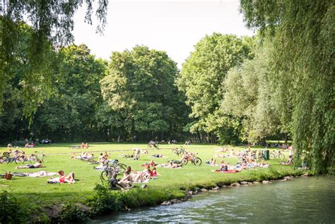 Englischer Garten Parken by Garden Munich Germany Afar