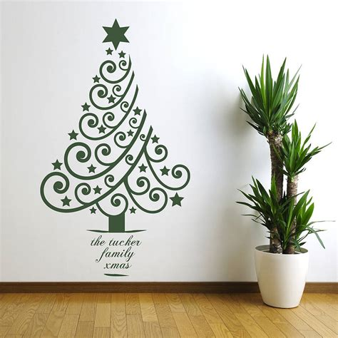 Xmas Wall Stickers personalised xmas tree wall sticker by spin collective