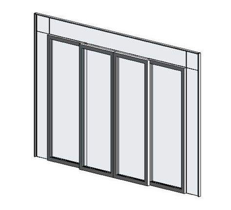 revit door in curtain wall revitcity com object curtain wall four panel sliding door