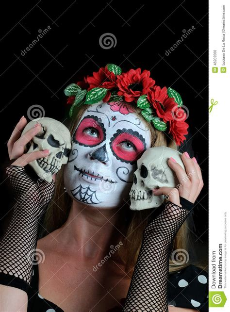 imagenes de halloween mexico halloween compone la maschera messicana fotografia stock