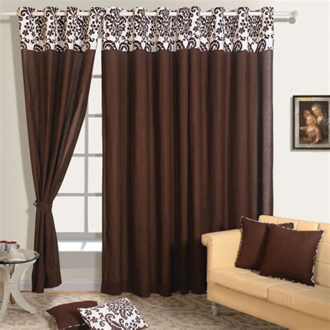 dark brown drapes buy dark brown color solid curtains online with readymade