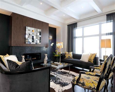 15 Fotos de Decoração de sala com sofá preto