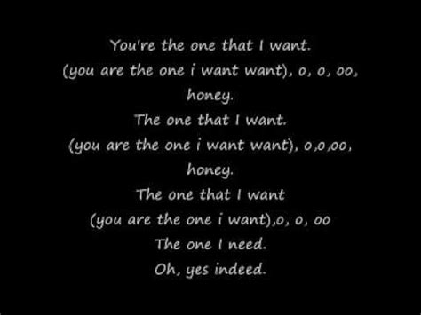 free download mp3 gac i want you grease you re the one that i want lyrics