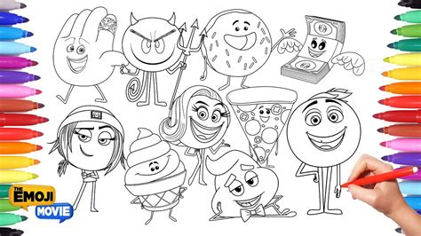 coloring pages emoji movie the emoji movie coloring pages for kids drawing and