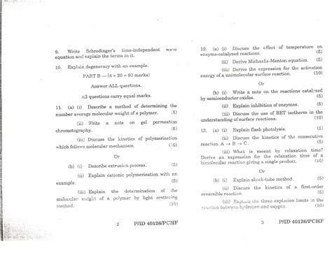 Madras Distance Education Mba Subject Code by Of Madras General Physical Chemistry 2 May