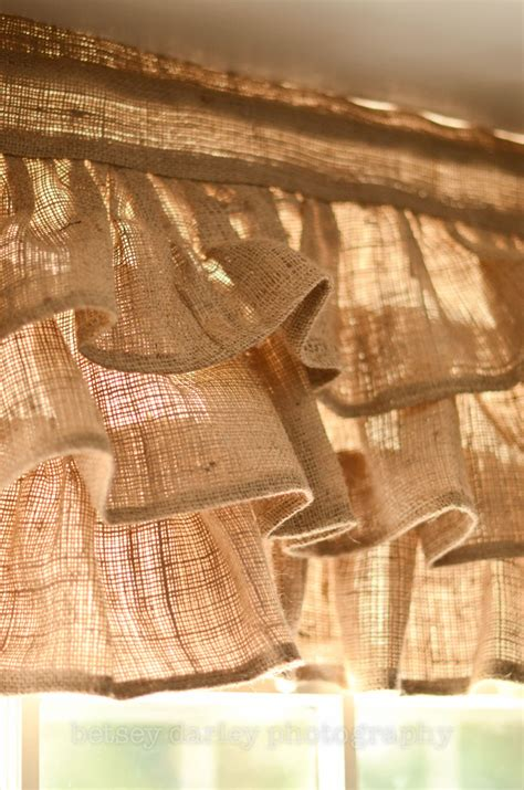 burlap ruffled valance by paulaanderika on etsy