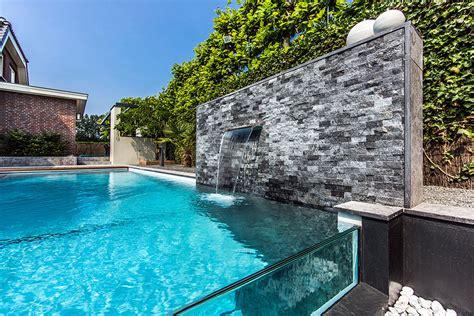 dream backyard garden  amazing glass swimming pool