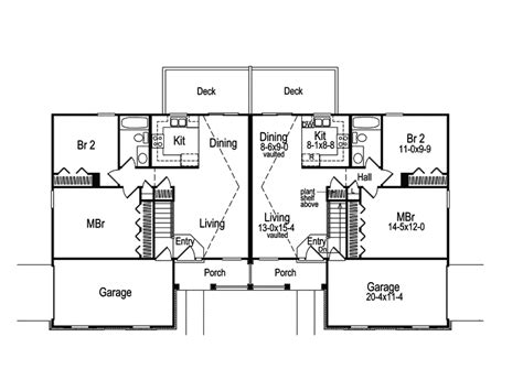 houseplans and more brooktree duplex home plan 007d 0019 house plans and more