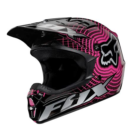 motocross racing helmets fox racing v1 vortex helmet black pink full face dot 01199