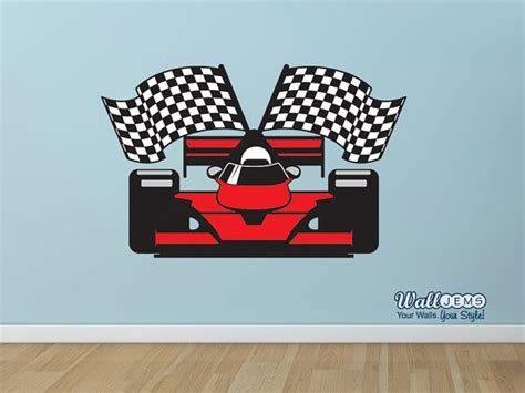 racing car wall stickers race car wall decal by walljems wall decals