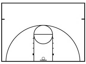 half basketball court size