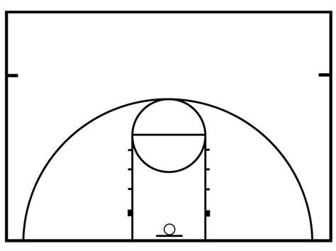 half court basketball template basketball half court diagrams printable clipart best