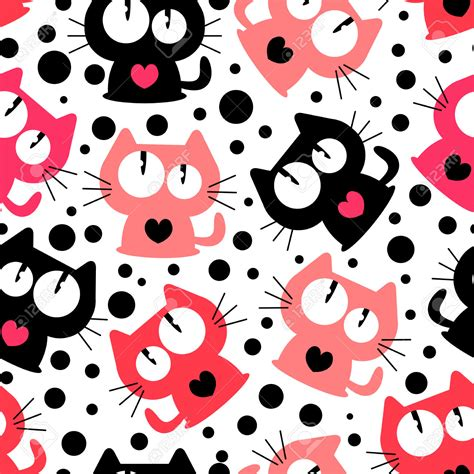 cat background pattern tumblr seamless pattern with cute funny cartoon cats vector cat
