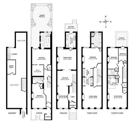 nyc brownstone floor plans pinterest the world s catalog of ideas