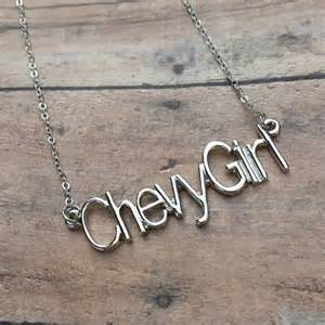 chevy inspired necklace necklace chain is 18 inches and