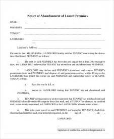 Lease Removal Letter 10 Abandonment Notice Templates Free Sle Exle Format Free Premium Templates