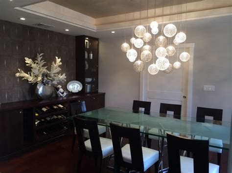 Contemporary Dining Room Chandelier by Mod Chandelier Contemporary Dining Room New York