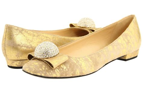 Gold Flats For Wedding by Gold Wedding Shoes Ballet Flats With Rhinestone Detail