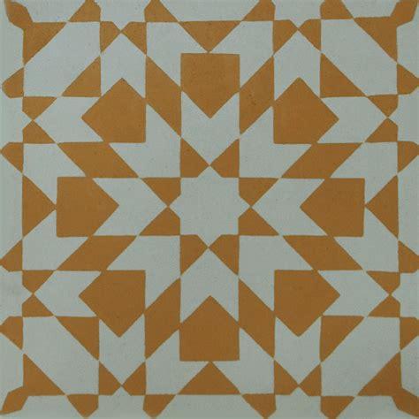 Patchwork Cement Tile - encaustic cement tile yellow patchwork hadeda tiles
