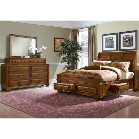 5 piece queen bedroom set sanibelle 5 piece queen storage bedroom set pine value