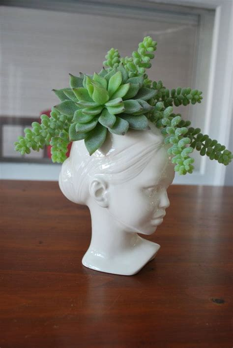 modern ceramic head planter in stock planters awesome and modern