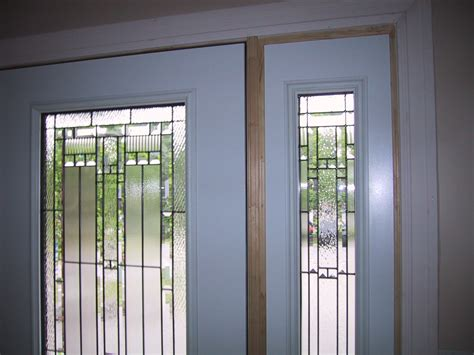 Frosted Fiberglass Exterior Glass Doors Insert And Wooden Glass Exterior Door