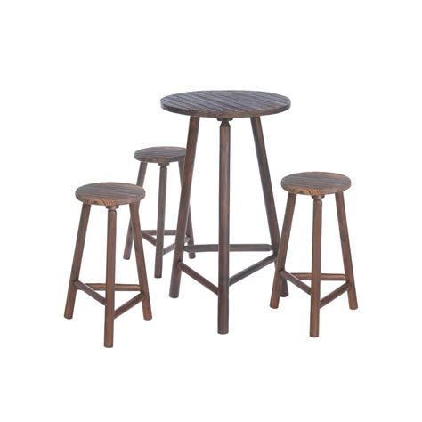 Wood Bar Stool Set by Fir Wood Bar Table Bar Stools Set All Wholesale Gifts