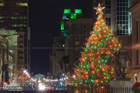 raleigh christmas tree on fayetteville street