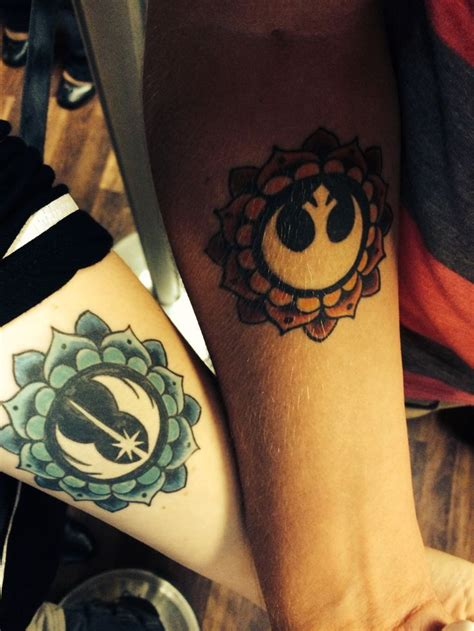 star tattoo for couples 15 star wars couples tattoos that don t suck