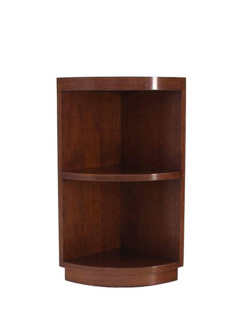 Walnut Corner Bookcase Two Tear Walnut Corner Shelf Bookcase At 1stdibs