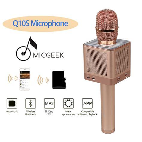 Mic Holder Wireless Terbaik micgeek mic karaoke speaker bluetooth q10s golden