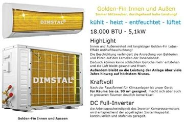 Split Klimaanlage Test 2016 by Dimstal Golden Fin Lotus Effekt 18000 Btu