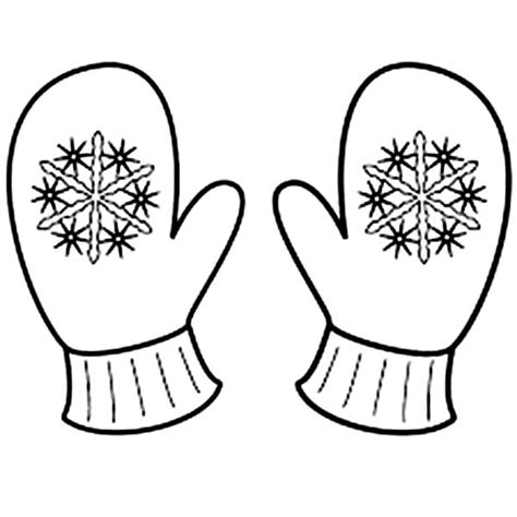 coloring pages winter gloves cute mitten coloring page applique pinterest mittens
