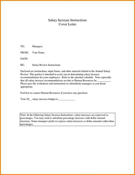 Raise Letter From Employer 8 Sle Salary Increase Letter To Employer Sales Slip