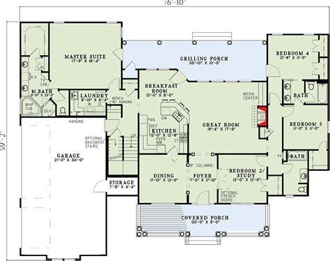 split floor plans spectacular split bedroom house plan 59377nd