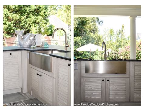 outdoor kitchen with sink fireside outdoor kitchen spotlight the gathering spot