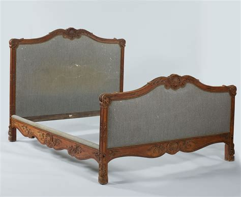 side headboard a french carved and upholstered headboard footboard and