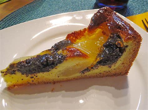Birnen Mohn Quark Kuchen Rezept Mit Bild Riga53